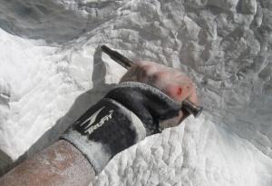 Artist Tony Calderone's hand